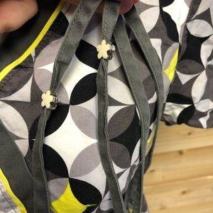 koi Tops - Koi yellow black & gray design scrub top